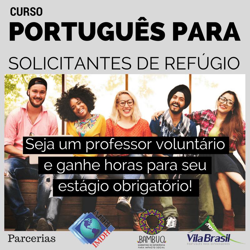 Curso de português pra refugiados