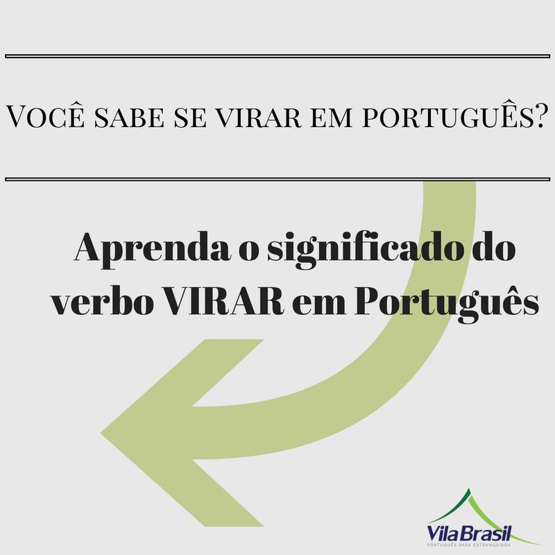 Verbo virar | português para estrangeiros | Learn Portuguese